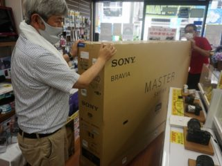 SONY8Kテレビの納品に思わず武者震いした!